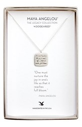 Dogeared Women's 'Legacy Collection One Must Nurture The Joy' Pendant Necklace Silver