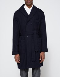 Engineered Garments Robe Dk. Navy Cotton Flannel Dark Navy