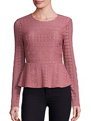 Bcbgmaxazria Lace Peplum Top Black