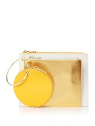 Therapy Triple Pouch Clutch Apricot