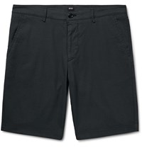 Hugo Boss Slim Fit Stretch Cotton Shorts Blue