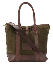 Polo Ralph Lauren Burnished Trim Tote Green