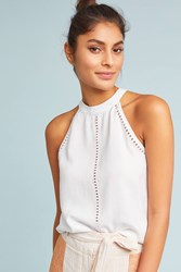Cloth And Stone Cutout Halter Top White