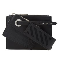 Off White Three Wallet Black