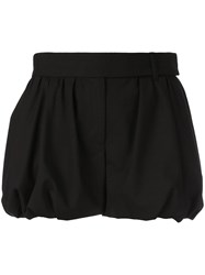 Vera Wang Gathered Hem Shorts Black