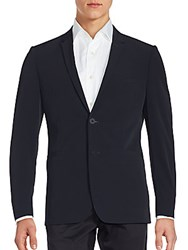 Porsche Design Sport Solid Notch Lapel Blazer Black