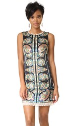 Nanette Lepore Statement Shift Dress Black Multi