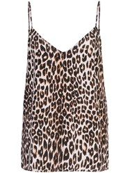 Equipment Leopard Print Camisole Top Brown