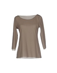 Niu' Topwear T Shirts Women Dove Grey