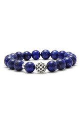Lagos Women's Bead Stretch Bracelet Lapis