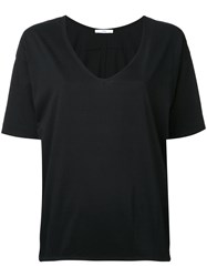 Astraet V Neck T Shirt Black