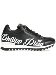 Philipp Plein Branded Lace Up Trainers Black