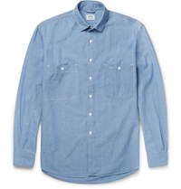 Aspesi Cotton Chambray Shirt Blue