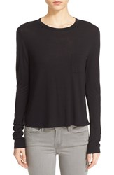 Women's T By Alexander Wang Crop Long Sleeve Tee