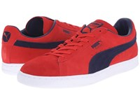 Puma Suede Classic Flame Scarlet Peacoat Men's Shoes Red