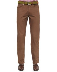 Peter Millar Five Pocket Stretch Cotton Trousers Brown