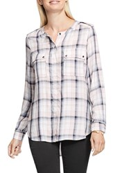 Vince Camuto Women's Two By Band Collar Utility Shirt