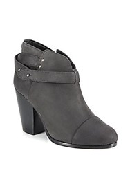 Rag And Bone Harrow Ankle Strap Suede Booties Stone Waxy