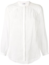 Closed Broderie Anglaise Panel Shirt Women Cotton Xs White