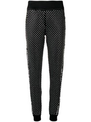 Philipp Plein Crystal Embellished Track Pants Black