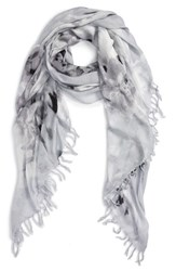 Nordstrom Women's Flora Obscura Scarf Grey Combo