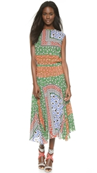 Preen Line Sylia Dress Star Patchwork Multi