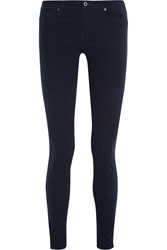 Ag Jeans Low Rise Corduroy Skinny Jeans Blue