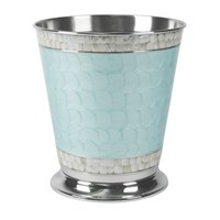 Julia Knight Classic Waste Basket Aqua