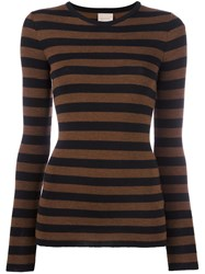 Laneus Striped Jumper Black