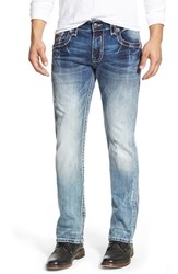 Men's Rock Revival 'Leotis' Straight Leg Jeans Light Blue