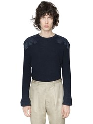 Maison Martin Margiela Washed Wool Cotton Military Sweater