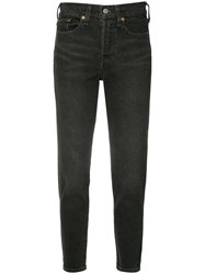 Levi's Skinny Cropped Jeans Black