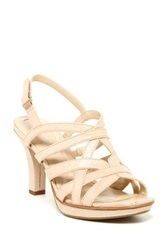 Naturalizer Delma High Heel Sandal Wide Width Available Beige