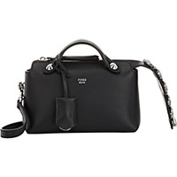 Fendi Women's By The Way Mini Satchel Black Blue Black Blue