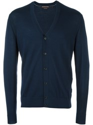 Michael Kors V Neck Cardigan Blue