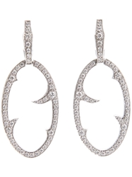 Stephen Webster 'Oval Thorn' Earrings Metallic