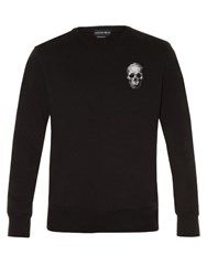 Alexander Mcqueen Cross Stitch Skull Long Sleeved Sweater Black Multi