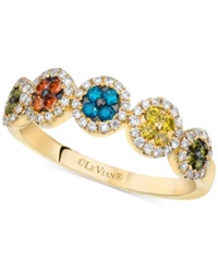Le Vian Exotics Multicolor Diamond Ring 3 8 Ct. T.W. In 14K Gold No Color