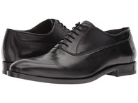 Canali Plain Toe Oxford Black Men's Plain Toe Shoes