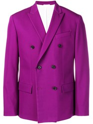 Calvin Klein Double Breasted Blazer Purple