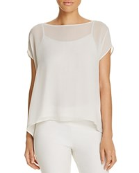 Eileen Fisher Short Sleeve Silk Blouse Bone