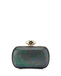 Evil Eye Minaudiere Evening Clutch Hologram Granite Diane Von Furstenberg