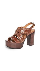 See By Chloe Helen Whipstitch Grommet Sandals Libano