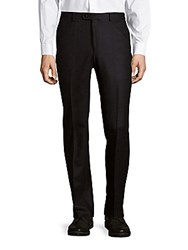 John Varvatos Joplin Luxe Glen Plaid Dress Pants Navy Black