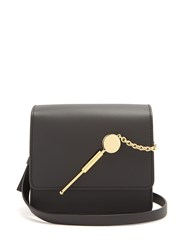 Sophie Hulme Cocktail Stirrer Small Leather Cross Body Bag Black
