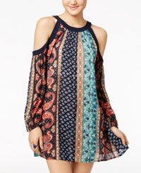 American Rag Printed Cold Shoulder Dress Only At Macy's Blueprint
