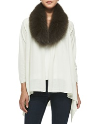 Alice Olivia Cashmere Blend Izzy Open Front Cardigan Cream