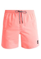 O'neill Popup Swimming Shorts Neon Tangerine Pink Red
