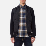 Barbour International Men's Track Zip Through Jacket Navy Blue