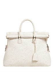 Maison Martin Margiela Crackled Effect Leather Top Handle Bag
